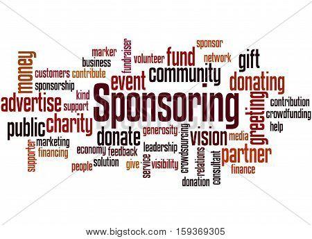Sponsoring, Word Cloud Concept 7