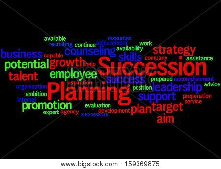 Succession Planning, Word Cloud Concept