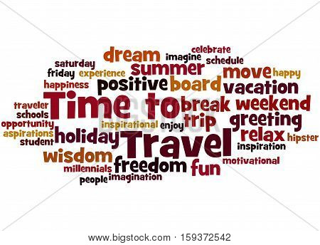 Time To Travel, Word Cloud Concept 4