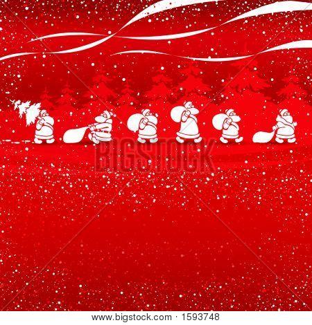 Cristmas Santas gehen