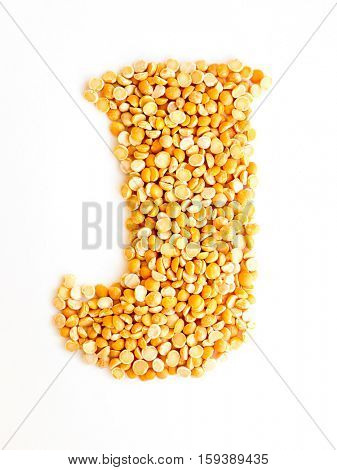 The peas Initials letter J.