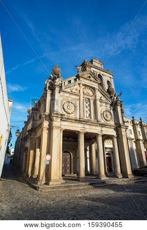 Igreja Da Graca Church Of Evora. Alentejo, Portugal.