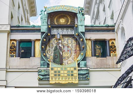Ankeruhr (anker Clock), Famous Astronomical Clock In Vienna