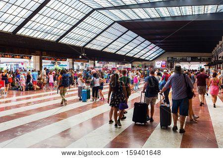 Firenze Santa Maria Novella Railway Station In Florence, Italy