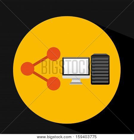 pc data base share arrow vector illustration eps 10