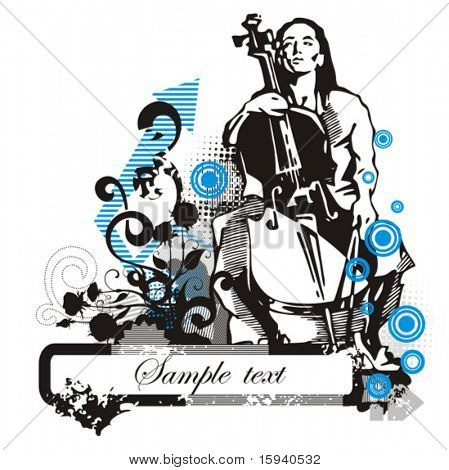 Musician background series, vector illustration with place for your text.
