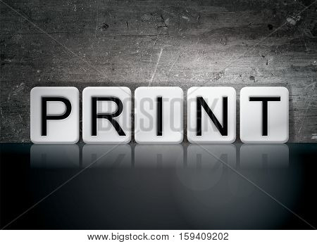 Print Tiled Letters Concept And Theme
