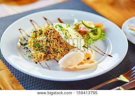Mie Goreng - Spicy Fried Curry Instant Noodles