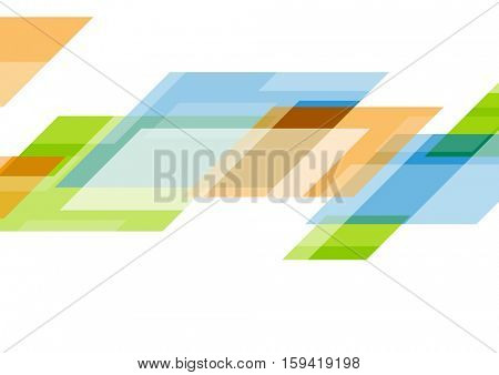 Colorful tech abstract motion business template design. Geometric vector design