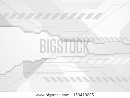Tech grey geometric abstract background. Vector illustration