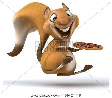 Fun squirrel - 3D Illustration