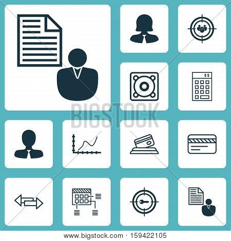 Set Of 12 Universal Editable Icons. Can Be Used For Web, Mobile And App Design. Includes Icons Such As Focus Group, Keyword Marketing, Achievement Graph And More.