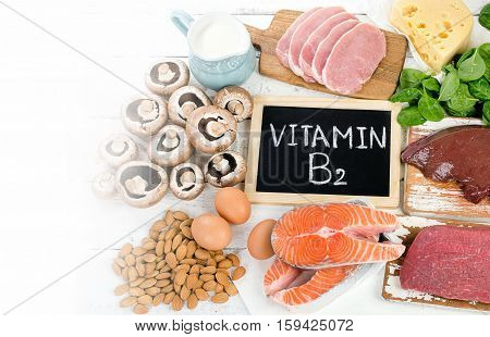 Foods Highest In Vitamin B2 (riboflavin). Healthy Eating.