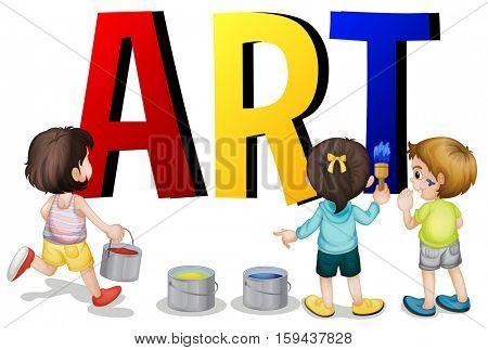 Font design with word art illustration