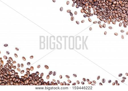 White Background With Coffee Beans