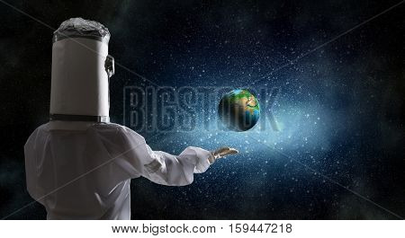 Dreaming to explore space