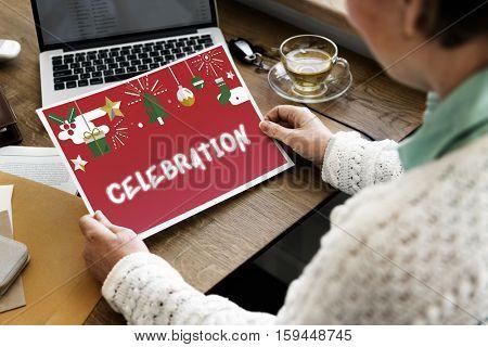 Merry X'mas Christmas Celebration Concept