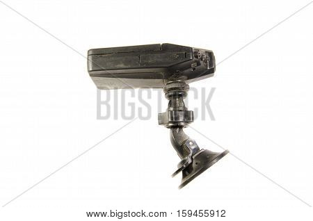 Car video recorder isolated on a white background