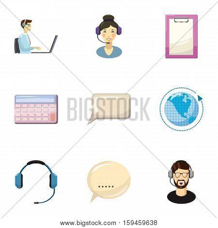 Technical consultation icons set. Cartoon illustration of 9 technical consultation vector icons for web