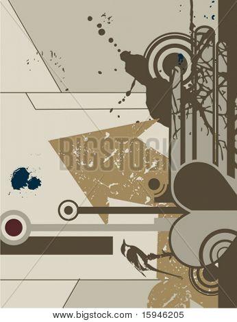 Modern grunge design, vector illustration.