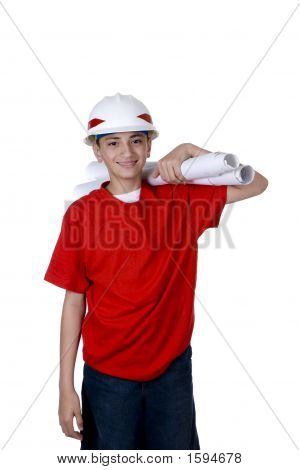 Boy Construction Worker