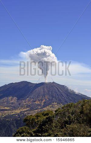 Turrialba Volcano In Costa Rica