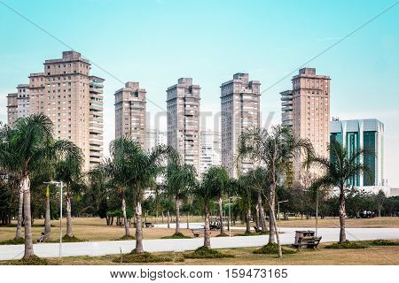Buildings Near Villa-lobos Park In San Paulo (sao Paulo), Brazil (brasil)
