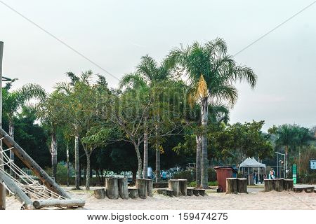 Playground At Villa-lobos Park In San Paulo (sao Paulo), Brazil (brasil)