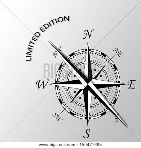 Illustration of Limited edition written aside compass
