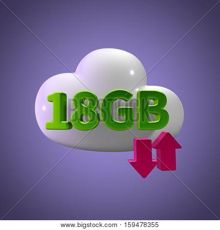 3d rendering cloud download upload 18  gb capacity