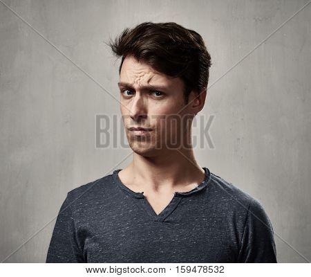 Man looking camera.