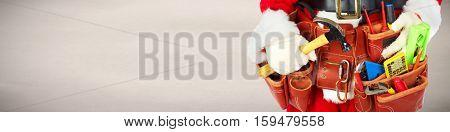 Santa with construction tools