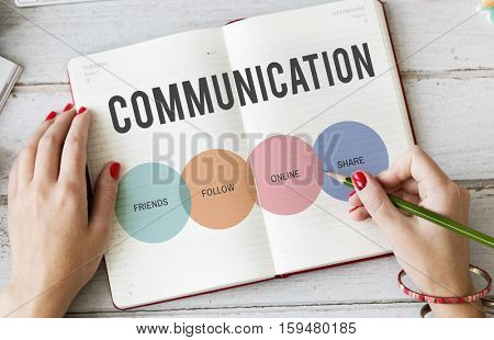 Communication Connection Networking Icon Concept