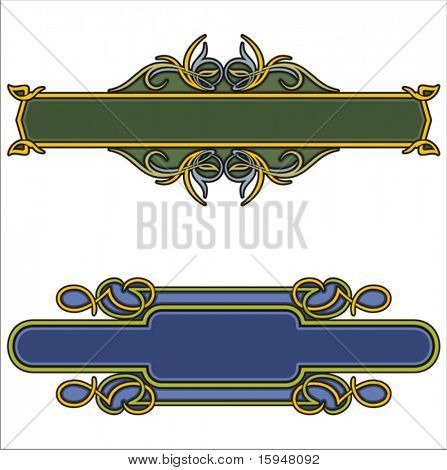 A set of 2 very CLEAN and EXQUISITE color panels with ornamental elements. All vectors are ready for vinyl cutting as well.