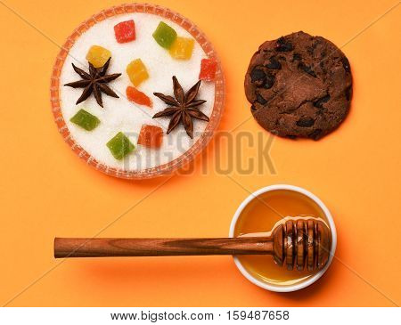 Chocolate Chip Cookie With Honey