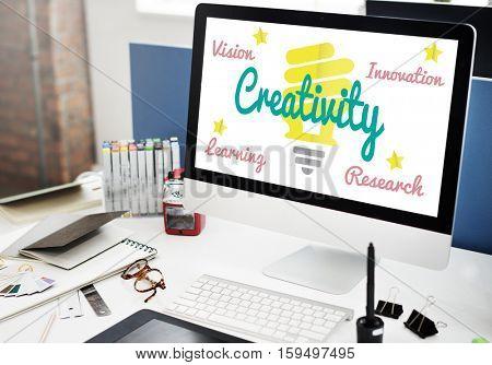 Be Creative Fresh Ideas Concept
