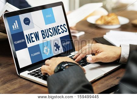 Startup Business Plan Strategy Concept
