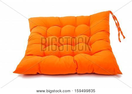 fabric chair cushion isolated on white background