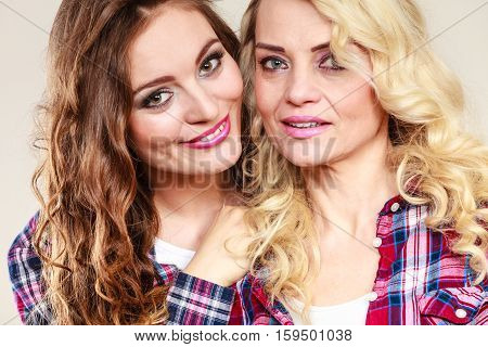 Portrait Adult Daughter With Mother.