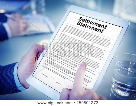 Settlement Statement Insurance Concept