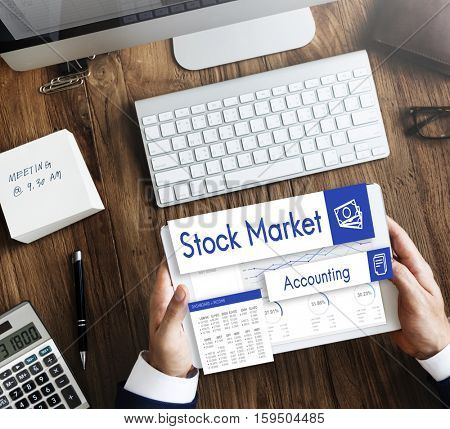 Stock Market Trade Business Analysis Investment Concept