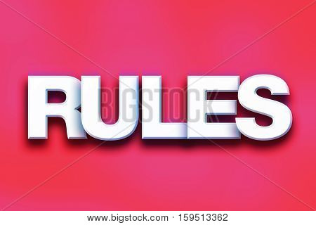 Rules Concept Colorful Word Art