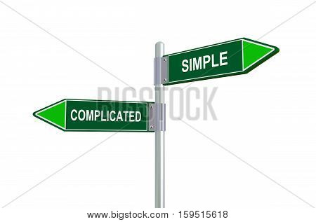 3D Complicated Simple Road Sign