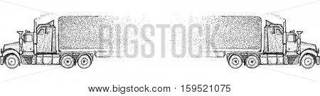 vector - truck - isolated on background