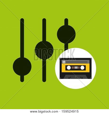 equalizer music cassette tape vector illustration eps 10