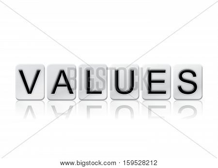 Values Isolated Tiled Letters Concept And Theme