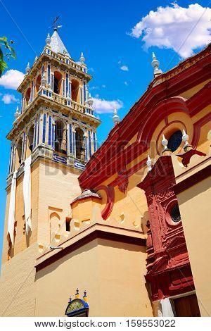 Triana barrio in Seville Santa Ana church andalusia Spain Sevilla