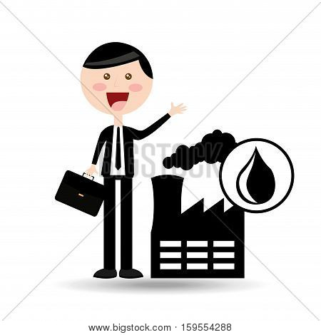 businessman oil concept factory production vector illustration eps 10