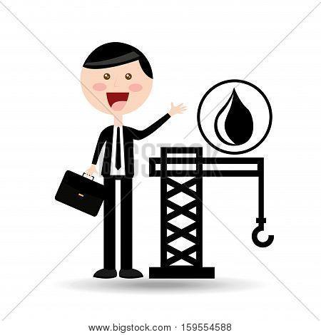 businessman oil concept tower petroleum vector illustration eps 10