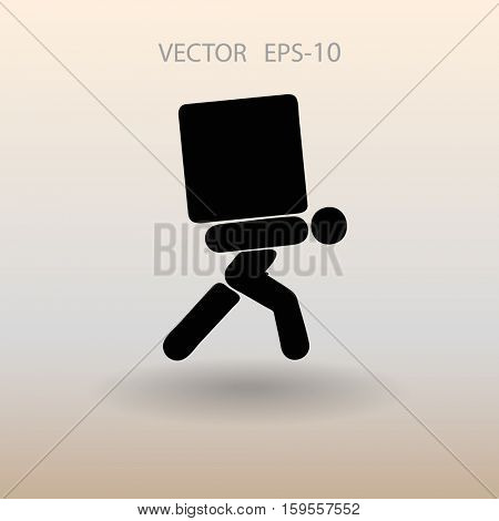 Flat icon of dilivery. vector illustration